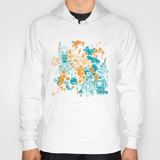 Dream Factory Orange and Blue Hoody