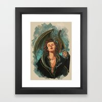 Lady and Harry Framed Art Print