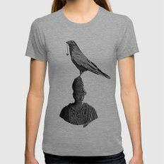 Nevermore. Womens Fitted Tee Tri-Grey SMALL