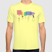 Talk of the Town Mens Fitted Tee Lemon SMALL