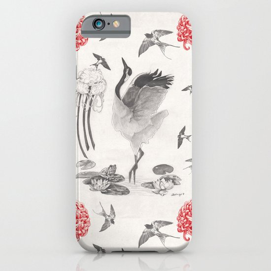 Crane, Swallow, Frog iPhone & iPod Case