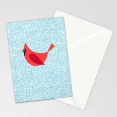Cardinal Flowers, Carolina Blue Stationery Cards