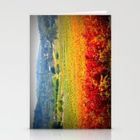 autumn vineyard Stationery Cards