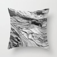 Monolithic Erosion Swirl Throw Pillow
