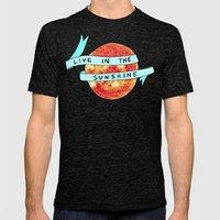 Live in the Sunshine Mens Fitted Tee Tri-Black SMALL