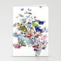 A flow of happiness Stationery Cards