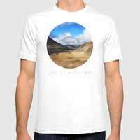 Life Is A Journey (Colou… Mens Fitted Tee White SMALL