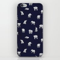 Indian Baby Elephants in Navy iPhone & iPod Skin