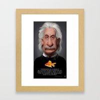 Celebrity Sunday ~ Albert Einstein Genius Fish Framed Art Print
