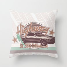 Vintage Car V.3 Throw Pillow