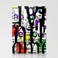 Abstract Text Stationery Cards