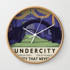 Undercity Classic Rail Poster Wall Clock