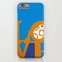 Robot LOVE - Orange iPhone 6 Slim Case