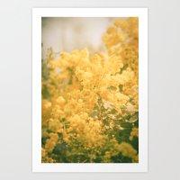 Puffs of Goldenrod Art Print