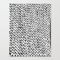 Hand Knitted Loops Canvas Print