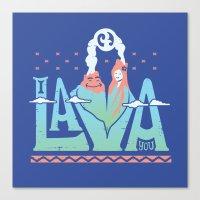 One Lava Canvas Print