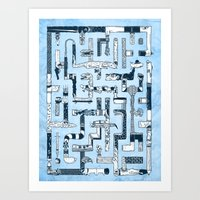 Which Way To The Bathroo… Art Print