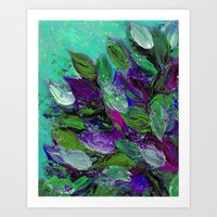 BLOOMING BEAUTIFUL 1 - F… Art Print