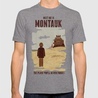 Montauk Mens Fitted Tee Tri-Grey SMALL