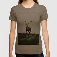 stay wild Womens Fitted Tee Tri-Coffee SMALL