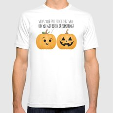 Pumpkin Botox Mens Fitted Tee White SMALL