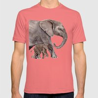 Elephants Mens Fitted Tee Pomegranate SMALL
