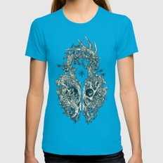 Lichen Womens Fitted Tee Teal SMALL