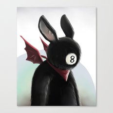 Eightball demon Canvas Print