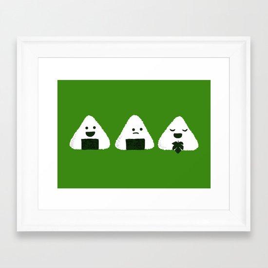 Nude Onigiri Framed Art Print