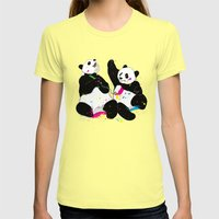 Colorful Life Womens Fitted Tee Lemon SMALL