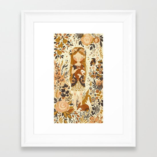 The Queen of Pentacles Framed Art Print