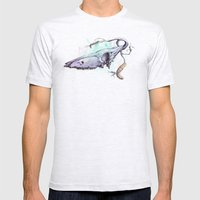 Skullbranch Mens Fitted Tee Ash Grey SMALL