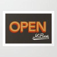 Open A Book Art Print