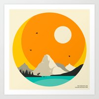 GLACIER NATIONAL PARK, Two Medicine Lake Art Print