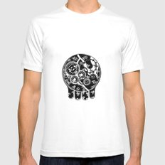 Time Bomb (Inverted) White SMALL Mens Fitted Tee