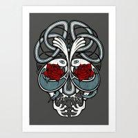 Celtic Skull Art Print