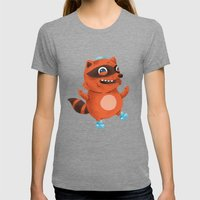 Rollerblade Raccoon Womens Fitted Tee Tri-Grey SMALL