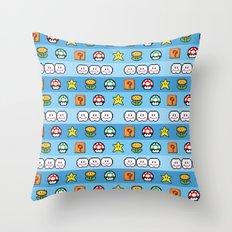 Pixel retro game Throw Pillow