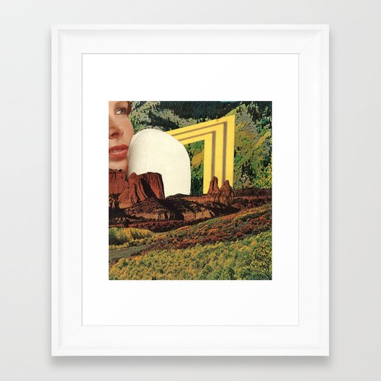 girl in landscape Framed Art Print