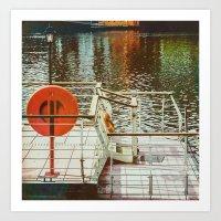 Liffeyside Art Print