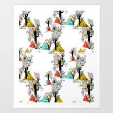 Tree Triangles Art Print