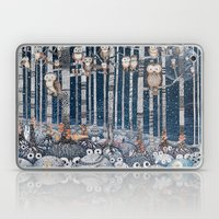 First Snow In The Forest Laptop & iPad Skin