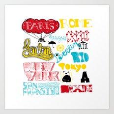 places Art Print