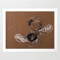 Talking Megaphone Art Print