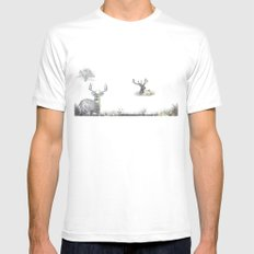 Green Safari Mens Fitted Tee SMALL White