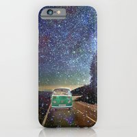 iPhone Cases featuring Stars Wander wolkswagen. Dreams. Green by Guido Montañés