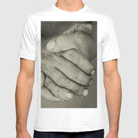Manos Trabajadoras Mens Fitted Tee White SMALL