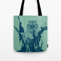 Paint Tiger Tote Bag
