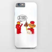 """iPhone & iPod Case featuring space lego meeting the """"arale wannabe"""" monkey by complesso gasparo"""