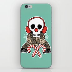 Stay Warm Holiday Skull iPhone & iPod Skin